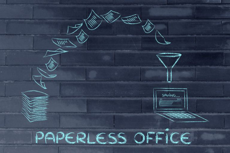 document scanning for a paperless office